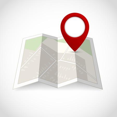 Mapa podróży ulica drogi z lokalizacji pin ilustracji symbol
