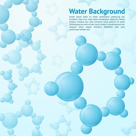 Water molecules structure science chemistry nature background vector illustration Illustration