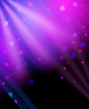 gala: Abstract vibrant glitter background night club glowing purple light rays twinkling effect pattern poster vector illustration Illustration