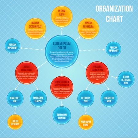 Organizational chart infographic business flowchart work process structure vector illustration Vector