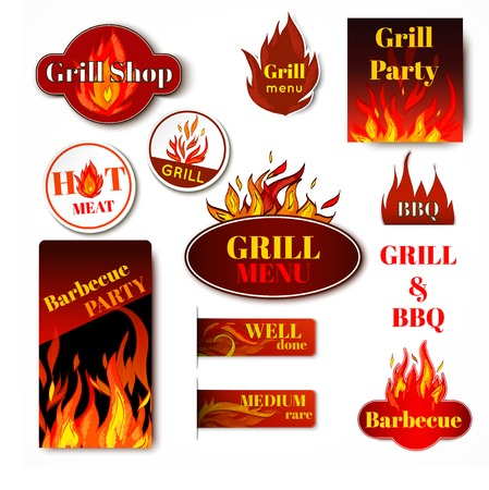 Hot price fire flame paper sale discount promotion labels badges and tags isolated vector illustration