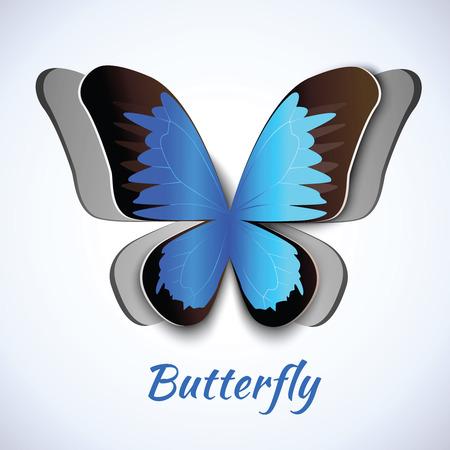 symbol decorative: Cutout paper abstract butterfly symbol decorative element postcard embellishment vector illustration Illustration