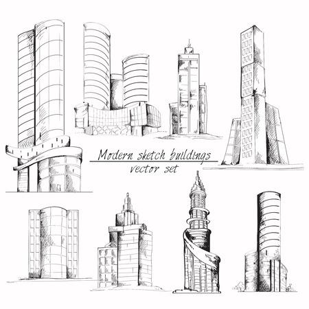 architectural elements: Edificio urbano moderno 3d con elementos arquitect�nicos isom�trico, ilustraci�n vectorial. Vectores