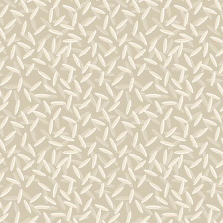 arroz chino: Arroz blanco seco de alimentos semillas de cereales sin fisuras patrón de la ilustración vectorial.