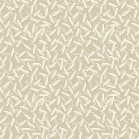 White dry rice grain seed food seamless pattern vector illustration.