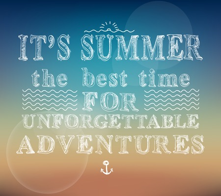 unforgettable: Summer the best time for unforgettable adventures poster vector illustration