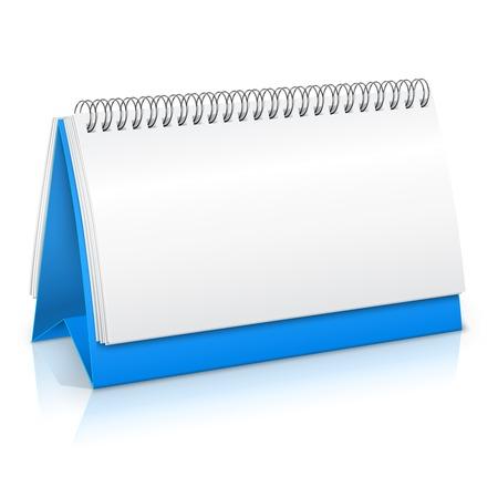 spiral vector: Spiral desk business office paper calendar planner mockup vector illustration