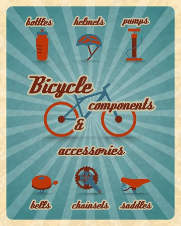 Bicycle bike sport fitness icons infographic set with charts and diagrams vector illustration