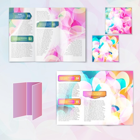 Multicolored abstract modern creative design paper brochure leaflet template elements isolated vector illustration Vector