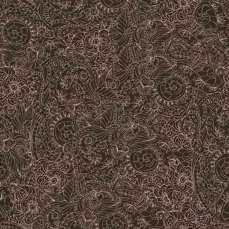 lacework: Retro lacework ornamental seamless pattern on dark background vector illustration Illustration