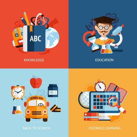 math set: Education knowledge school distance learning icons set isolated vector illustration