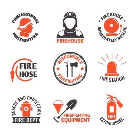 消防プロの消防署はすぐにセットの分離ベクトル イラストを救助します。