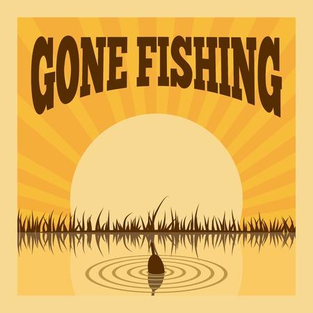 Affiche de pêche de loisir récréation passe-temps été mise en illustration vectorielle Banque d'images - 29972140