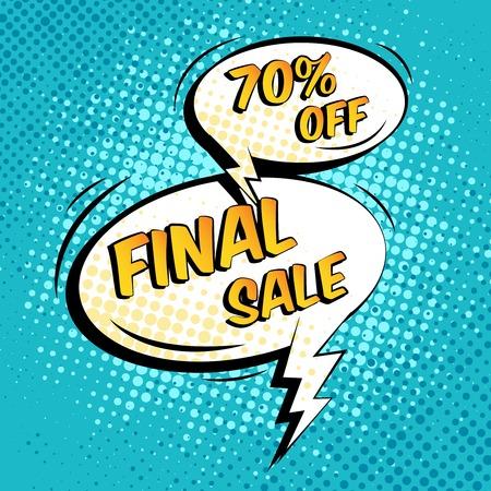 zap: Final sale special shopping offer speech bubble vector illustration
