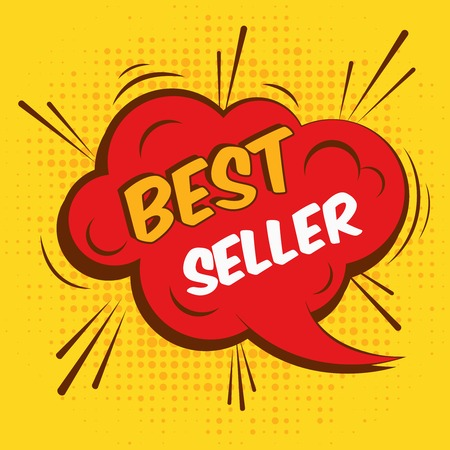 Best seller sale advertising promotion speech bubble illustration. 일러스트