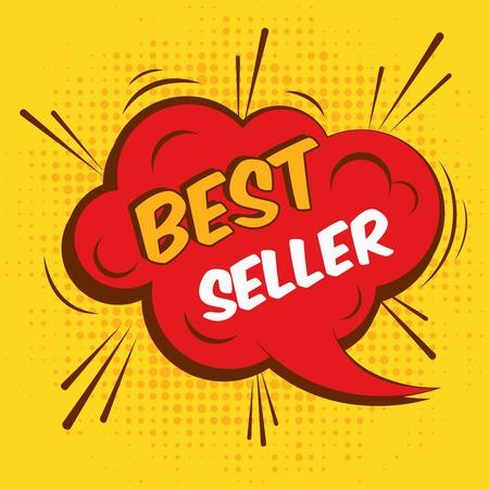 Best seller sale advertising promotion speech bubble illustration. Vector