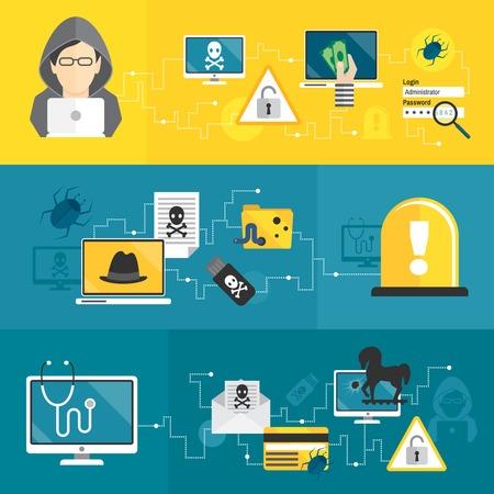 computer hacker: Hacker computer di attivit� e di e-mail
