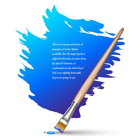 Paint brushes color frame artistic creative design background vector illustration