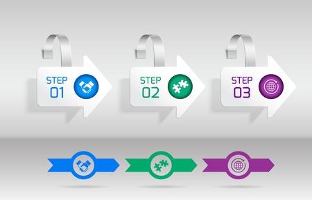 advertising wobbler: White arrow advertising sale wobbler infographic set vector illustration Illustration