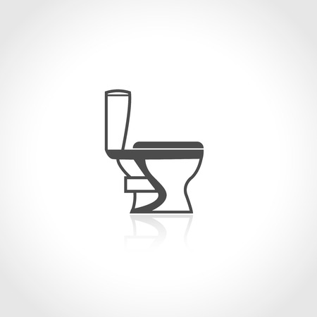 Toilet bowl plumbing icon isolated on white background vector illustration. Vector