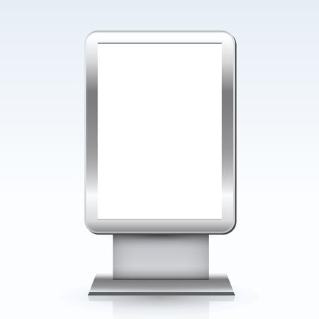 citylight: Blank advertising billboard citylight isolated on white background vector illustration Illustration