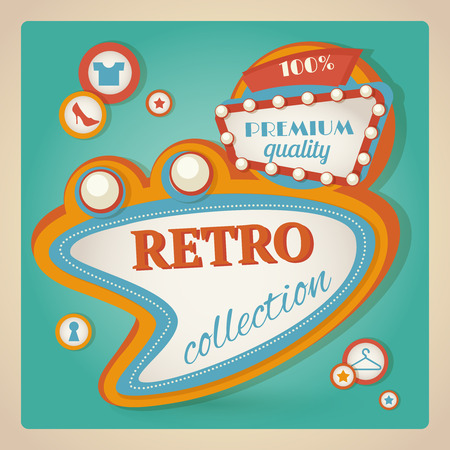 Retro sale discount premium quality speech bubble promotion poster vector illustration Vector