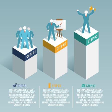 Leadership global organization partnership and group working infographic set illustration Vector