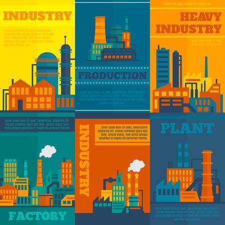 industriales: Industria de la construcci�n de la f�brica y la tecnolog�a concepto de manufactura y los iconos industriales ilustraci�n vectorial Vectores