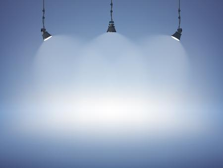 licht: Einbaustrahlern abstrakte Club Galerie Theater Interieur 3D realistischen Hintergrund Vektor-Illustration