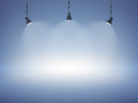 Spot light abstract club gallery theater interior 3d realistic background vector illustration 矢量图像