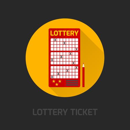loteria: Tarjeta de juegos de lotería de prepago para los números de la selección de símbolo con la ilustración vectorial abstracto poster resultados instantáneos publicidad plana Vectores