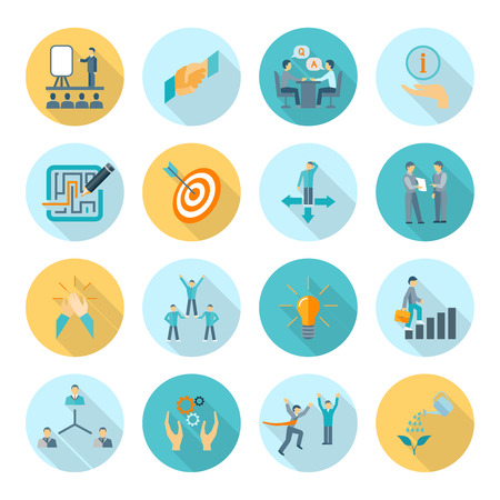Compliance and legal regulations icons flat long shadow set isolated vector illustration