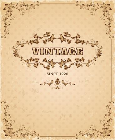 ностальгический: Ретро стиль бумага в возрасте декоративный ностальгию старинных крышка плакат декоративный дизайн чернилами сепии абстрактные векторные иллюстрации