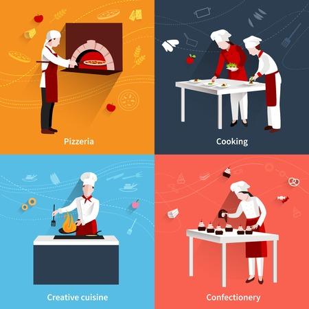 ピッツェリア創造的な料理や菓子フラット アイコン分離ベクトル イラスト入り料理のデザイン コンセプト 写真素材 - 41896092