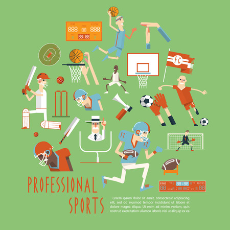 cricket: Professional competitive popular team sports matches moments with players arbiters and accessories  concept poster abstract vector illustration