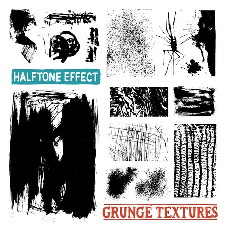 patterns vector: Grunge halftone drawing textures and black messy abstract patterns vector illustration