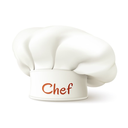 Restaurant chef hat realistic isolated on white background vector illustration