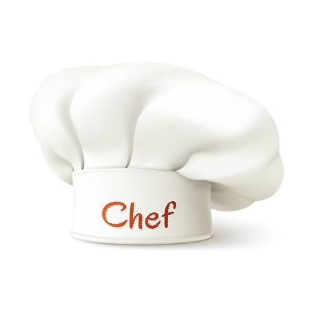 Ristorante chef cappello realistica isolato su sfondo bianco illustrazione vettoriale Archivio Fotografico - 45806943