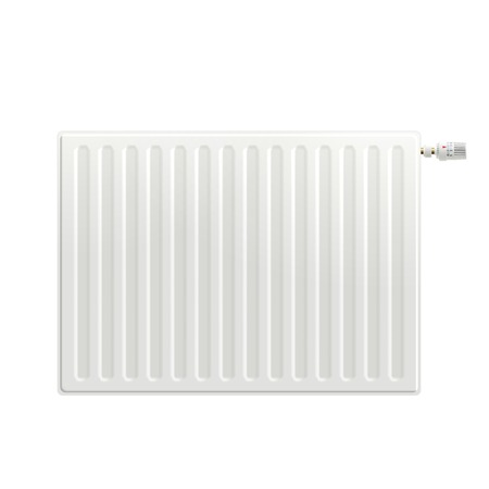 cold room: Realistic white indoors heating radiator isolated on white background vector illustration Illustration