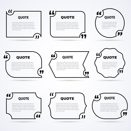 zeitlos: Inspirational quotes of wisdom and support to start the day outlined icons set abstract isolated vector illustration Illustration