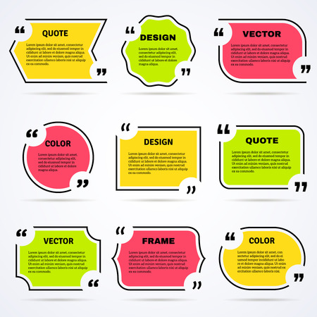 philosophers: Inspirational famous wise quotes for daily motivation in colored outlined shaped icons collection abstract isolated vector illustration