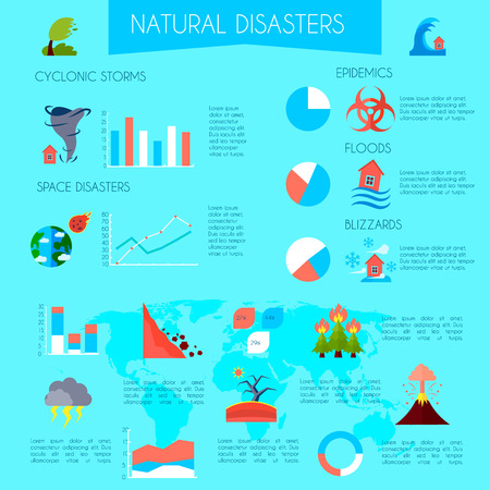 rockfall: Flat infographic poster of natural disaster with titles information and diagrams on transparent background vector illustration