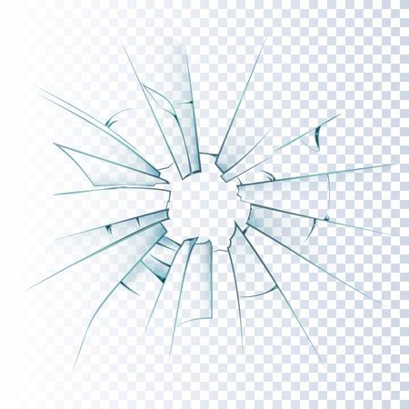 Gebrochene bereift Fensterscheibe oder Haustür Glas Hintergrund dekorativ realistisch Tageslicht Design Vektor-Illustration Vektorgrafik