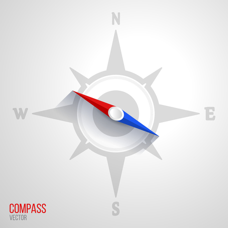 orientation: Navigation orientation compass travel nautical windrose abstract icon vector illustration Illustration
