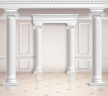 classic interior: Classic Hall Design. Interior Realistic Design. Classic Interior Vector Illustration. Classic Interior Background. Classic Interior Hall. Classic Interior Style.