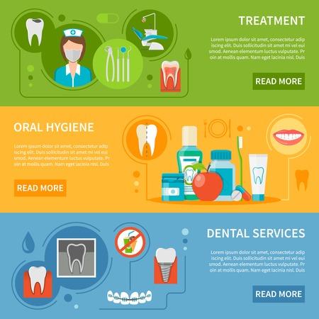 qualities: Dental Care Concept. Dental Care Horizontal Banners. Dental Care Vector Illustration. Dental Care Set. Dental Care Design Symbols.