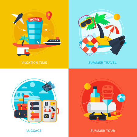duty free: Decorative design concept with elements shown various types of traveling vector illustration
