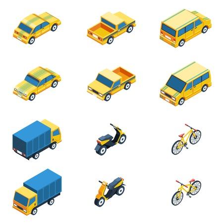 Transport Isometric Set. Transport Vector Illustration. Transport Isolated Elements.Transport Icons Set. Transport Means Collection. Illustration