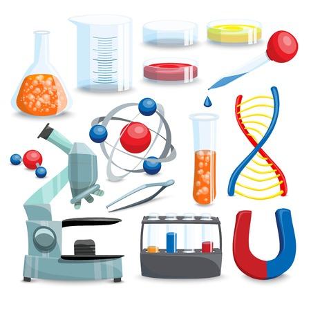 pharmaceutics: Science Icons Set. Science Vector Illustration. Science Cartoon Symbols. Chemistry Design Set.Science Isolated Set.