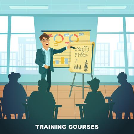 las formaciones clásicas para estudiantes avanzados y académicos con el maestro en el aula ilustración vectorial resumen